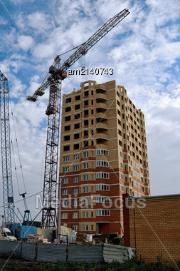 Construction Of A Multistory Building In The City Of Lipetsk Stock Photo
