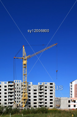 Construction Of The New Building Stock Photo