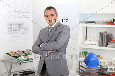 Construction Planner Stock Photo
