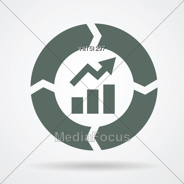 Continuous Improvement Cycle Web Icon Vector Illustration Stock Photo
