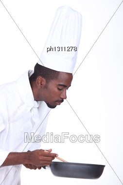 Cook On White Background Stock Photo