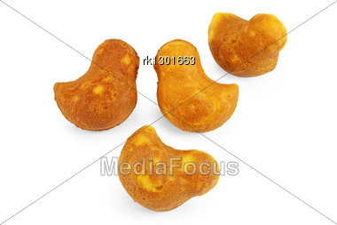 Cookies In The Shape Of Birds Isolated Stock Photo