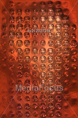 Copper Metal Background Cowered With Dots Stock Photo