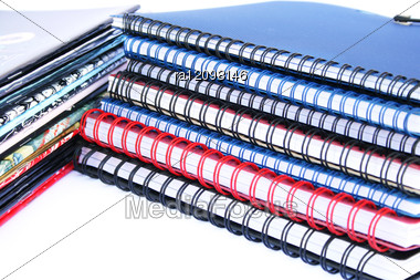 Copybook Stacks Stock Photo