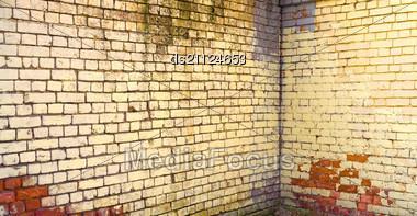 Stock Photo Corner Old Brick Wall Pattern Background Image