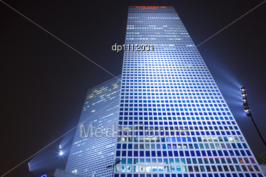 Corporate Building - Business Towers In Tel Aviv Stock Photo