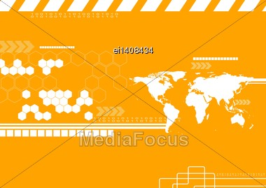 Corporate Technology World Map Backdrop. Vector Illustration Eps 10 Stock Photo