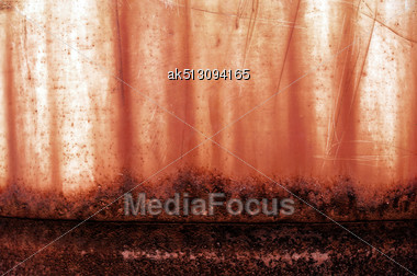 Corrosion Grunge Surface With Paint Like Blood Stock Photo