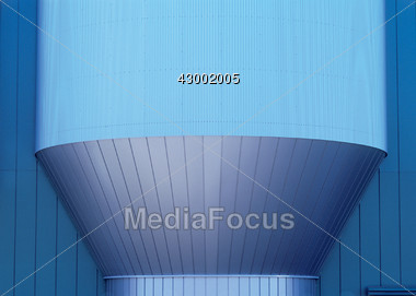 Corrugated Steel Structure Stock Photo