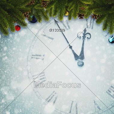 Countdown To New Year, Abstract Holidays Backgrounds For Your Design Stock Photo
