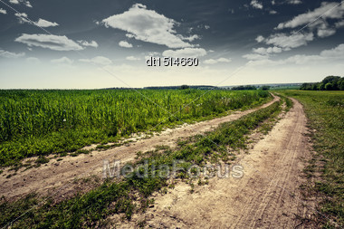Country Road, Abstract Natural Landscape For Your Design Stock Photo