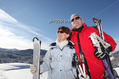 Couple At The Mountain Stock Photo