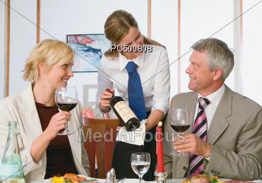 Couple Dining Stock Photo