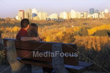 Couple Enjoys The View Stock Photo