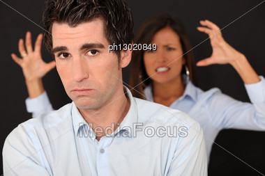 Couple Having A Quarrel Stock Photo