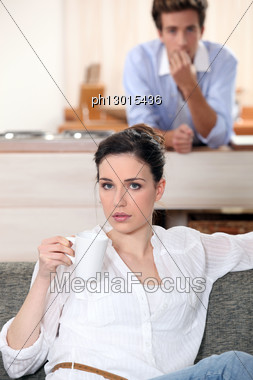 Couple Having Breakfast. Stock Photo