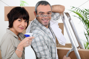 Couple Moving Out. Stock Photo