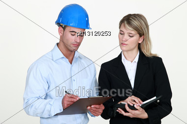 Couple Of Architects Stock Photo