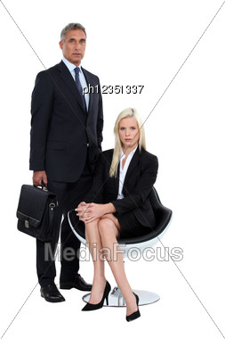 Couple Of Executives Stock Photo