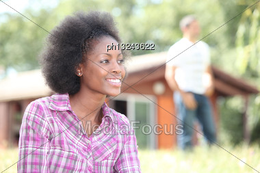 Couple On A Romantic Weekend In The Mountain Stock Photo