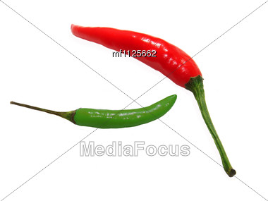 Couple of peppers Stock Photo
