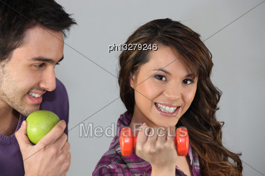 Couple With Healthy Lifestyle Stock Photo