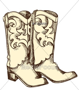 Stock Photo Cowboy Boots Vector Graphic Shoes Cowboy - Image ...