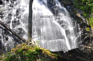 Crabtree Falls, Off Blue Ridge Parkway, North Carolina Stock Photo