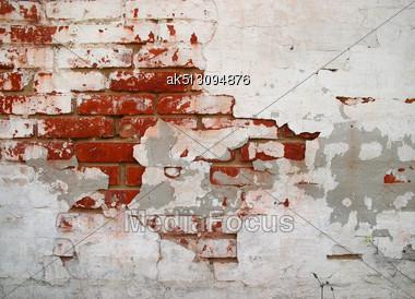 Cracked Grunge Brickwall Back Ground Stock Photo