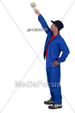 Craftsman Painting Stock Photo