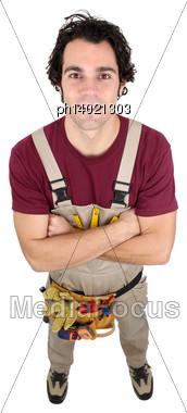 Craftsman Posing Stock Photo