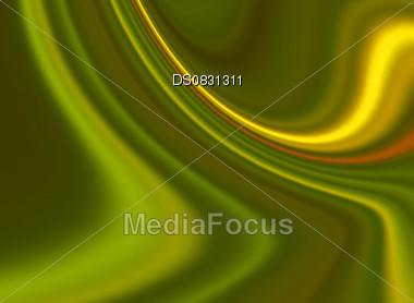 Creative abstract colorful green swirl looks like silk Stock Photo