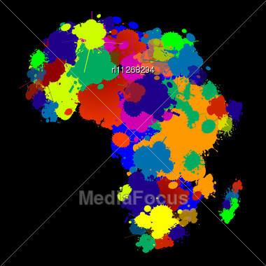 Stock Photo Creative Design Africa Map In Colors Image RL11268294