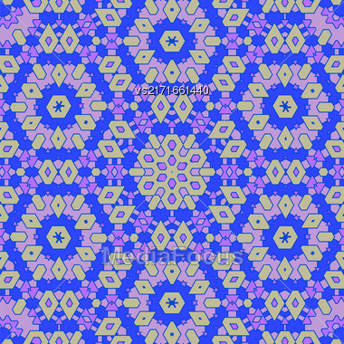 Creative Ornamental Blue Pattern. Geometric Decorative Background Stock Photo