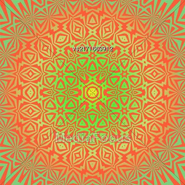Creative Ornamental Colored Pattern. Geometric Decorative Background Stock Photo