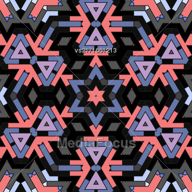 Creative Ornamental Dark Pattern. Geometric Decorative Background Stock Photo