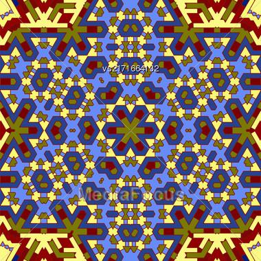 Creative Ornamental Dark Pattern. Geometric Decorative Background Stock Photo