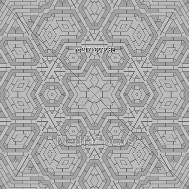 Creative Ornamental Grey Pattern. Geometric Decorative Background Stock Photo