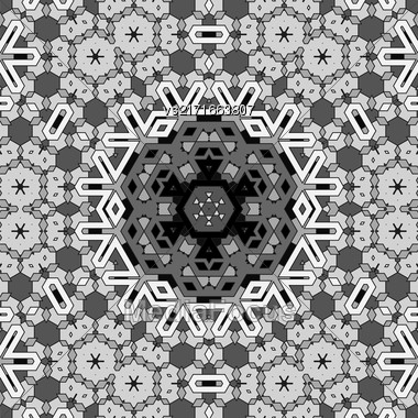Creative Ornamental Grey Pattern. Geometric Decorative Background Stock Photo