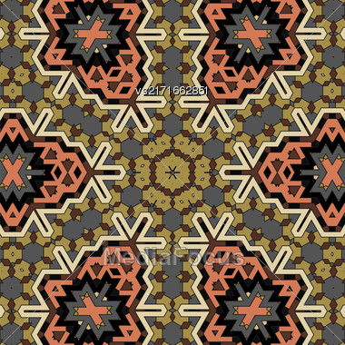 Creative Ornamental Mosaic Pattern. Geometric Decorative Background Stock Photo