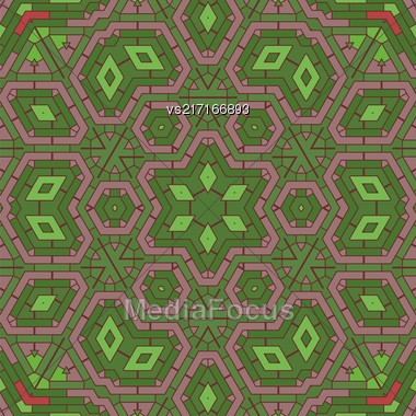 Creative Ornamental Mosaic Pattern. Geometric Decorative Background Stock Photo