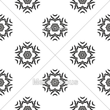 Creative Ornamental Mosaic Seamless Grey Pattern. Geometric Decorative Background Stock Photo