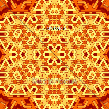 Creative Ornamental Orange Pattern. Geometric Decorative Background Stock Photo