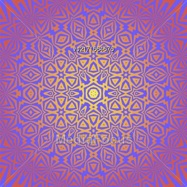 Creative Ornamental Pink Pattern. Geometric Decorative Background Stock Photo