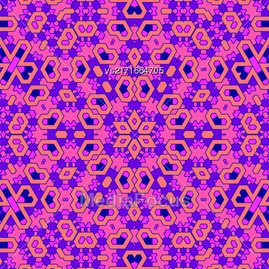 Creative Ornamental Pink Pattern. Geometric Decorative Background Stock Photo