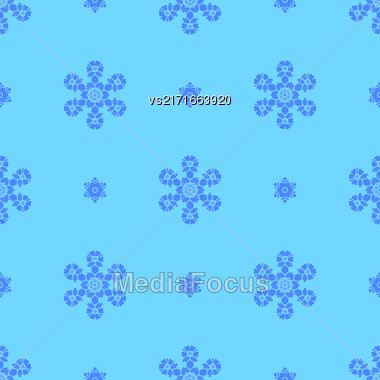 Creative Ornamental Seamless Blue Pattern. Geometric Decorative Background Stock Photo