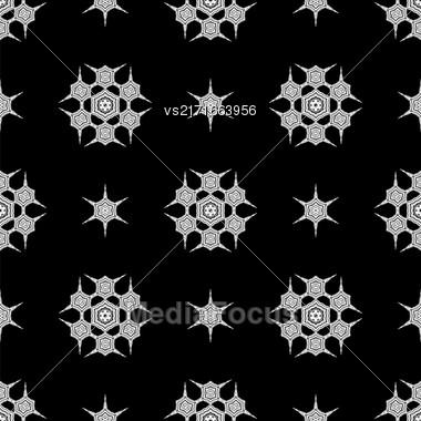 Creative Ornamental Seamless Dark Pattern. Geometric Decorative Background Stock Photo