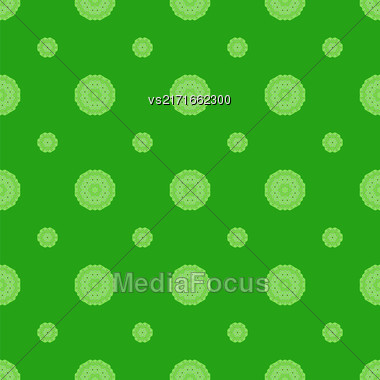 Creative Ornamental Seamless Green Pattern. Geometric Decorative Background Stock Photo