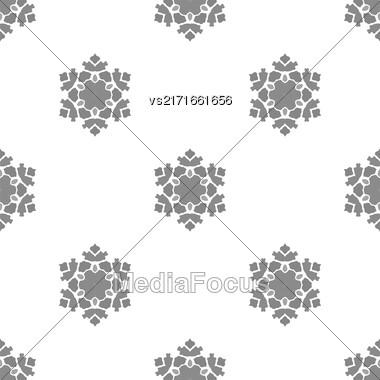 Creative Ornamental Seamless Grey Pattern. Geometric Decorative Background Stock Photo