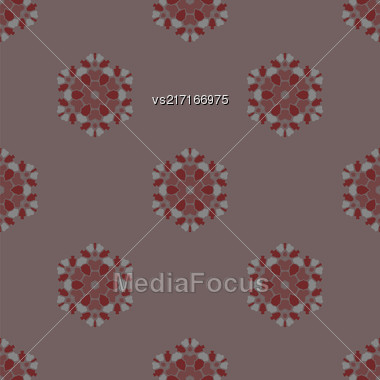 Creative Ornamental Seamless Pattern. Geometric Decorative Background Stock Photo